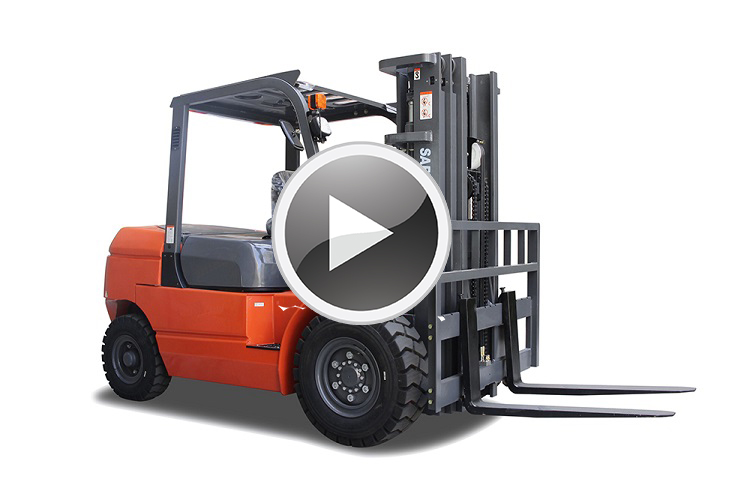 2.0t Forklift with Isuzu Engine and side shift and 3stages